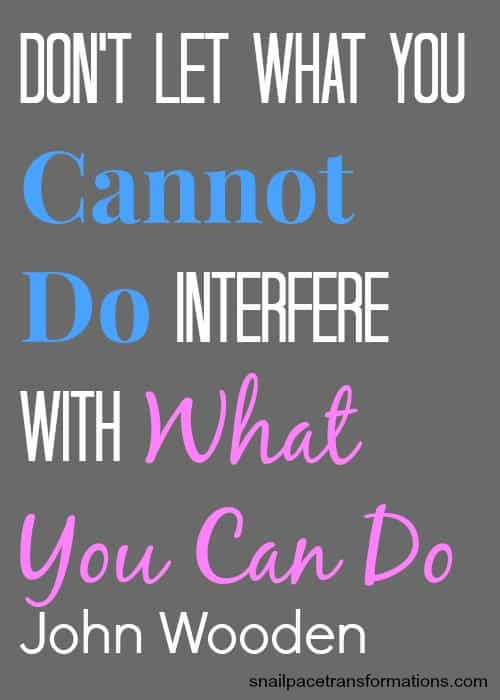 don't let what you cannot do interfere with what you can do