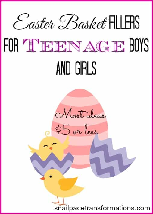 easter basket fillers for teenage boys and girls