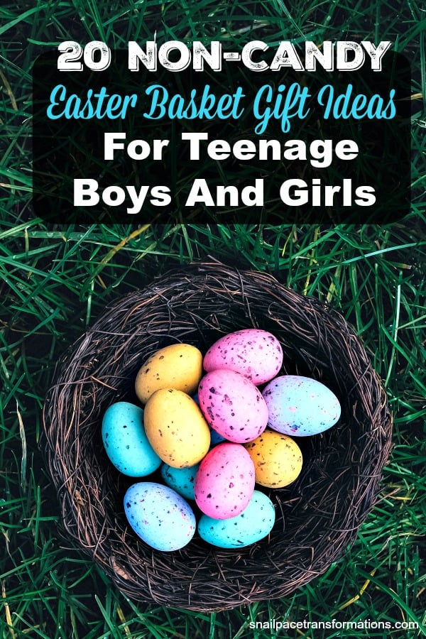 20 Non-Candy Easter Basket Gift Ideas For Teenage Boys And Girls #easterideas #easterbasketideas