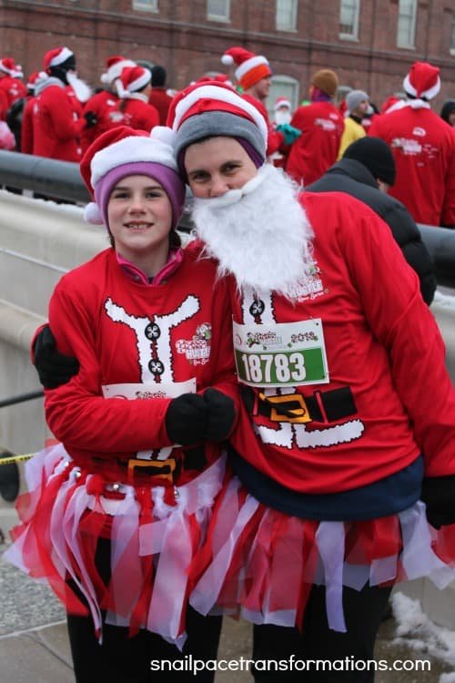 me and courtney santa run