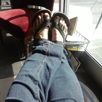 my feet in sandals