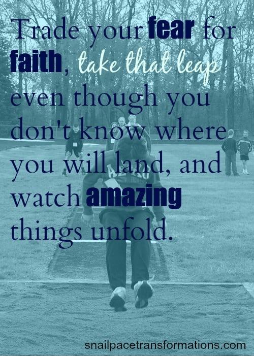 trade your fear for faith