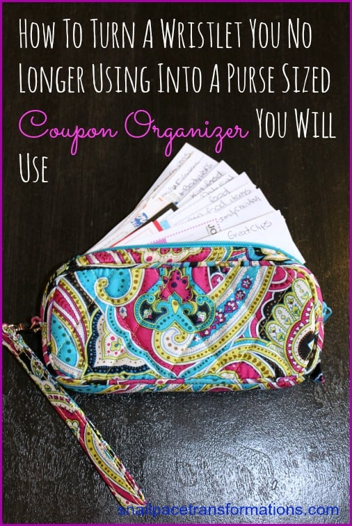 wristlet to coupon organizer