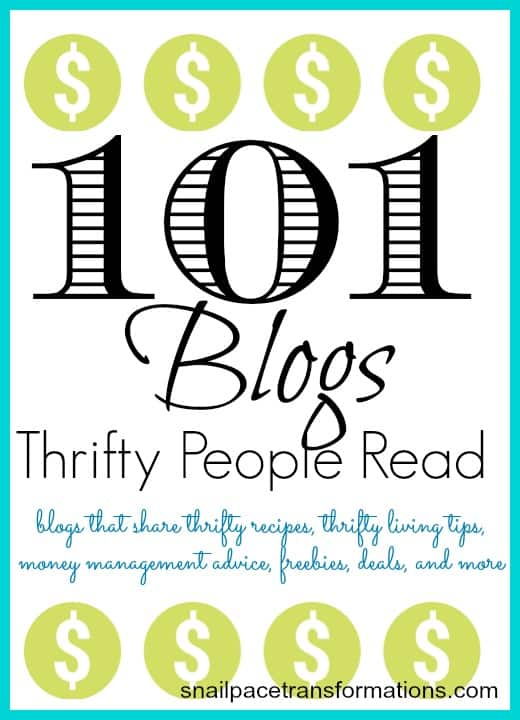 101 blogs thrifty people read