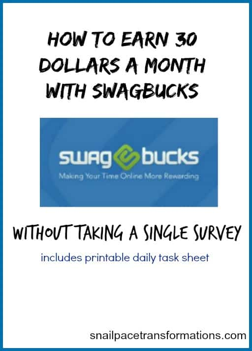 How to earn 30 dollars a month with Swagbucks