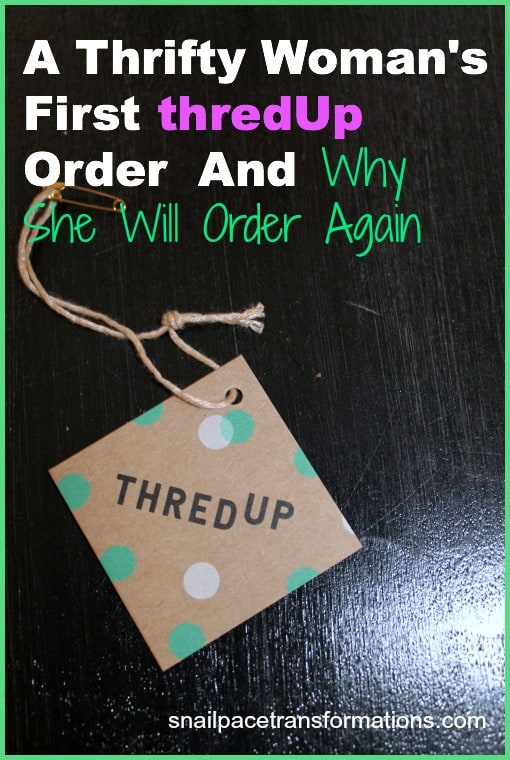 a thrifty women's first thredUp order and why she will order again