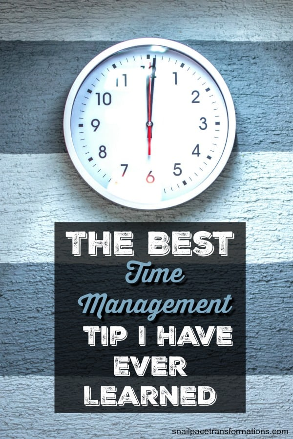 Learn the best time management tip ever! This tip is vital to being productive when working at home. #timemanagement #productivity