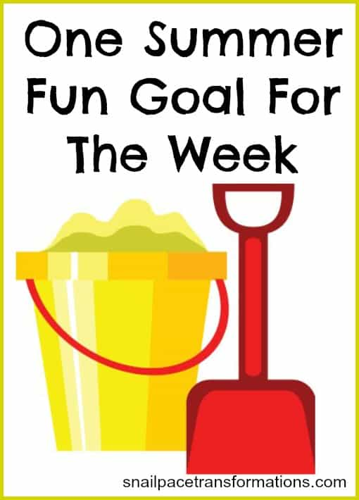 one summer fun goal for the week