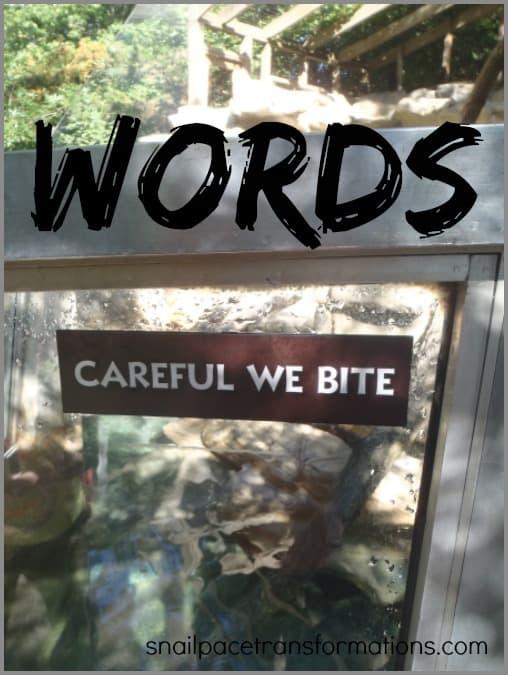 words keep writing them