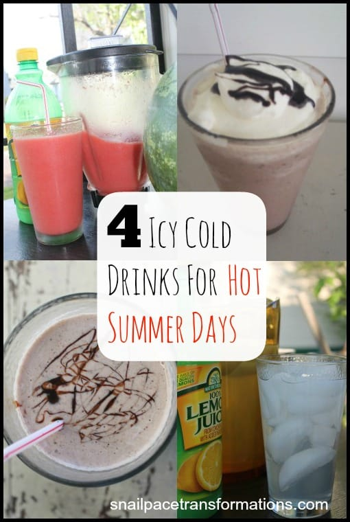 4 icy cold drinks for hot summer days