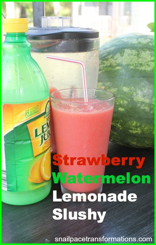 Strawberry Watermelon lemonade slushy