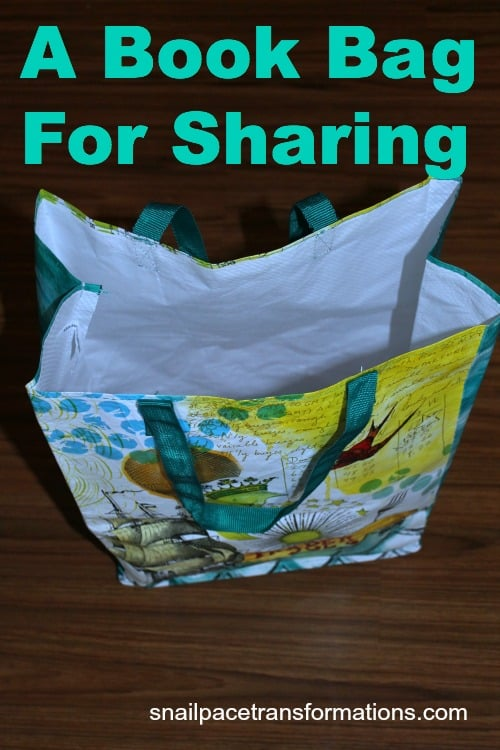 a book bag for sharing
