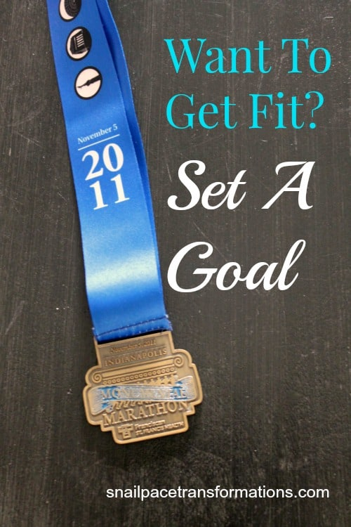 want to get fit set a goal