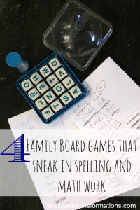 4 Family Board Games That Sneak In Spelling & Math Work
