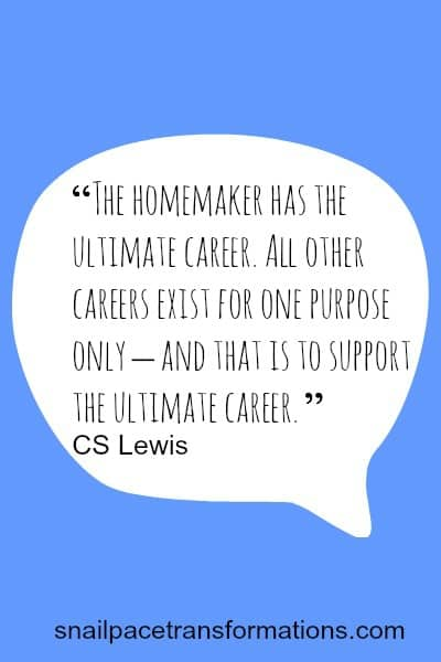 Homemaking is the ultimate career