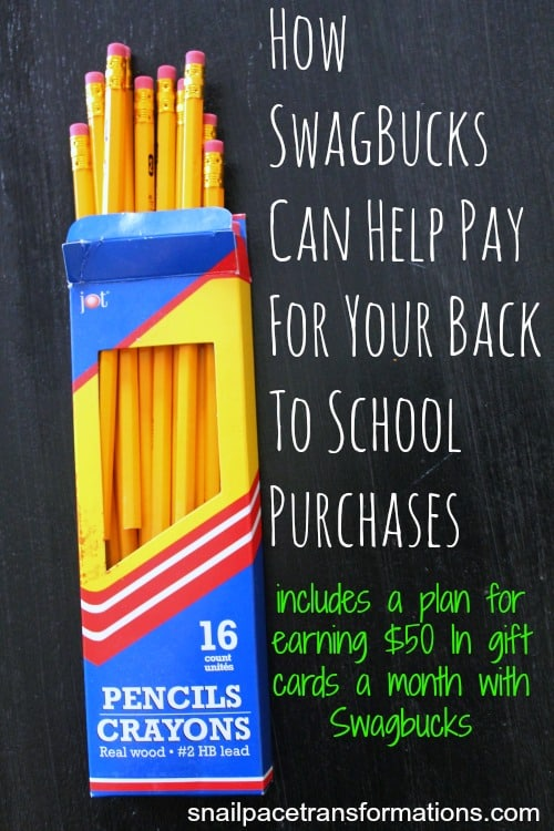 How Swagbucks can help pay for your back to school purchases