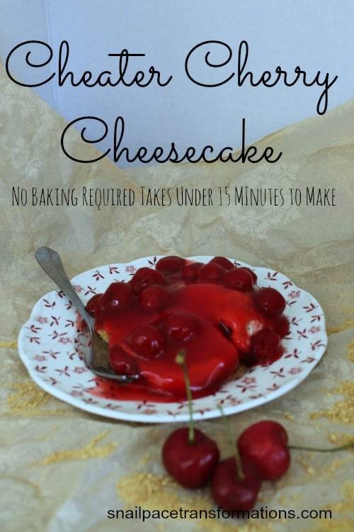 cheater cherry cheesecake no baking required