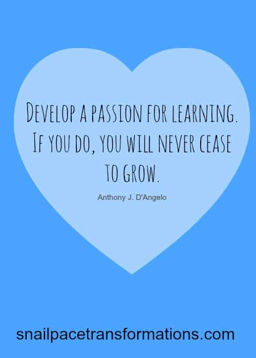 passion learning quote