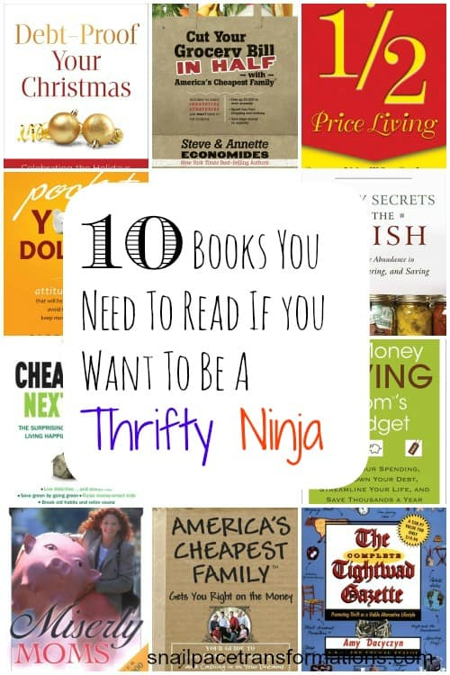 10 books you need to read if you want to be a thrifty ninja