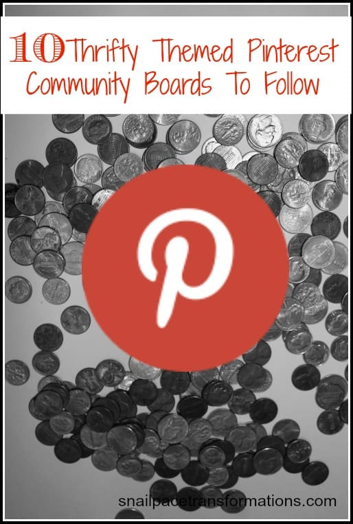 10 thrifty themed pinterest community boards to follow