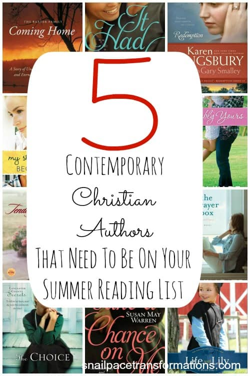 5 contemporary christian authors that need to be on your summer reading list
