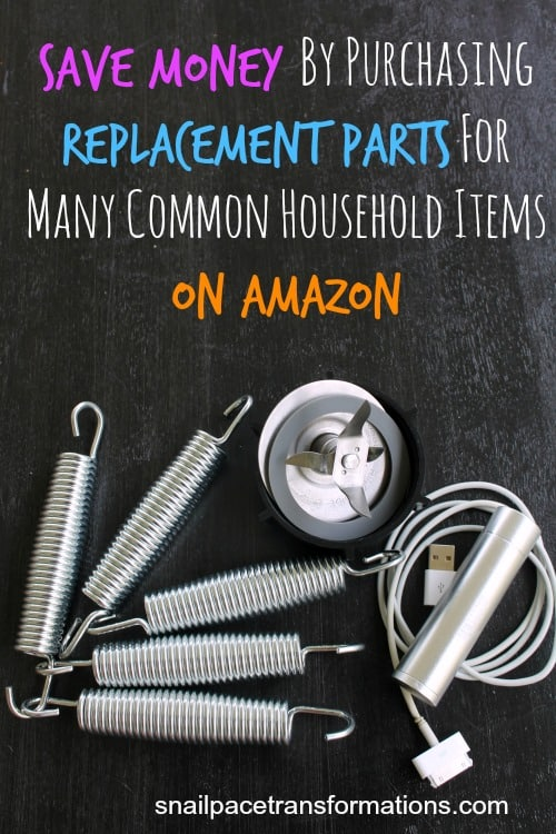 Save Money By Purchasing Replacement Parts For Many Common Household Items On Amazon
