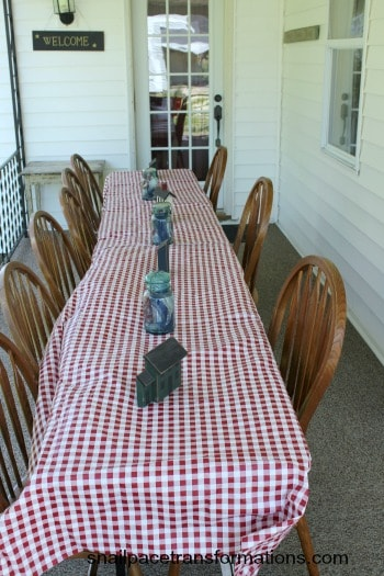 Simple and thrifty table decorations for the 4th of July