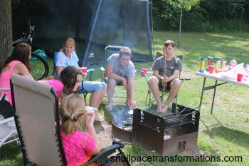 a wiener roast gathering