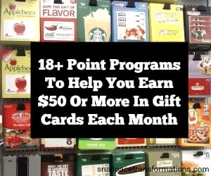 point reward program sidebar