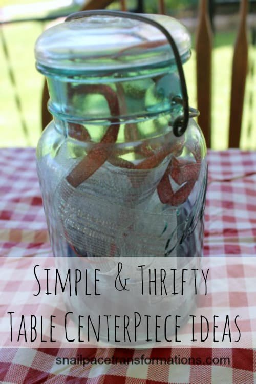 simple and thrifty table centerpiece ideas