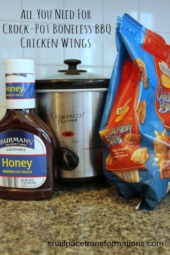 Crock Pot Boneless Bbq Chicken Wings Simple To Make