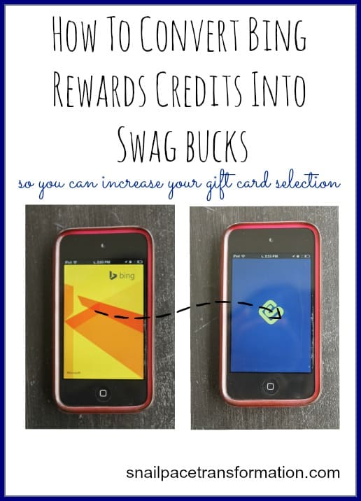 Convert Bing Rewards Credits Into Swag Bucks