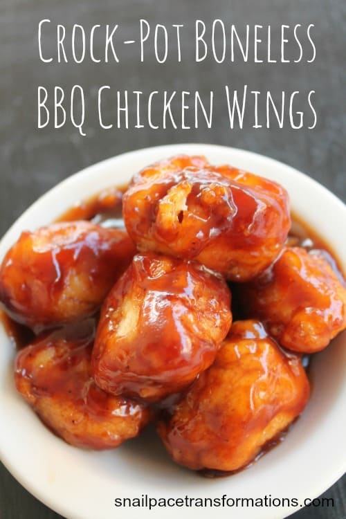 Crock-Pot Boneless BBQ Chicken Wings : Simple appetizer. #appetizer #chicken