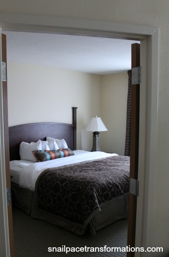 our favorite hotel room has a seperate bedroom