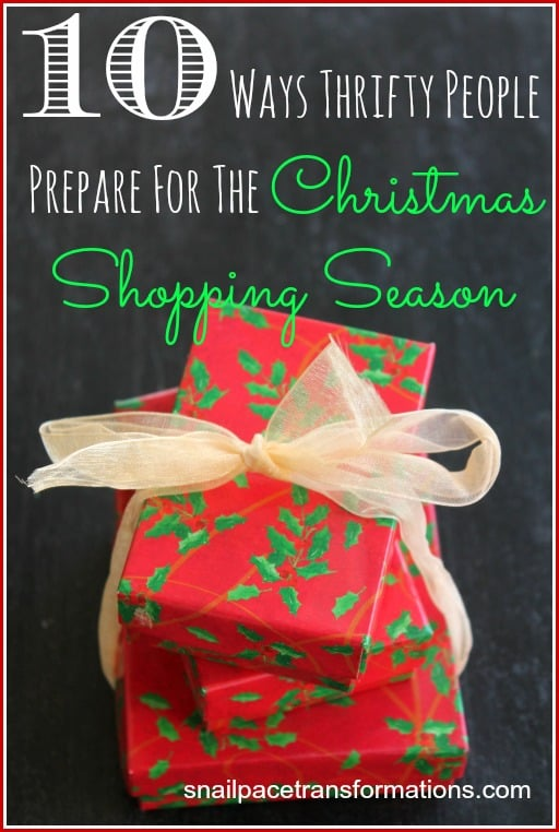 10 ways thrifty people prepare for the Christmas Shopping Season