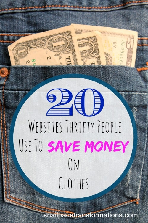 20 websites thrifty people use to save money on clothes