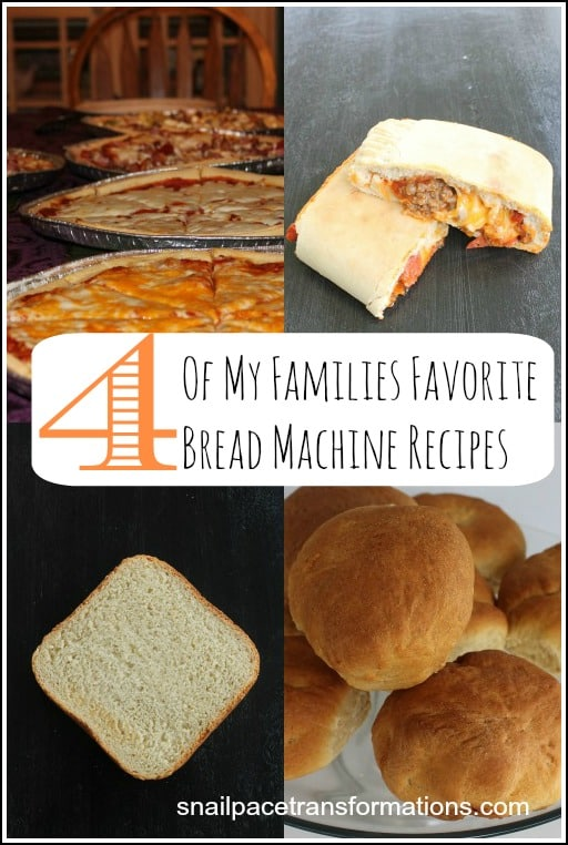 4 of my families favorite bread machine recipes