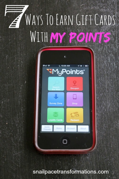 7 ways to earn gift cards with my points