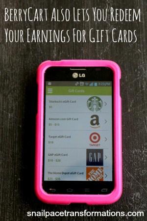 BerryCart Gift card options