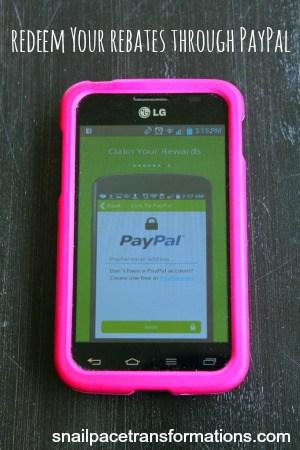 BerryCart redeem your rebates through paypal