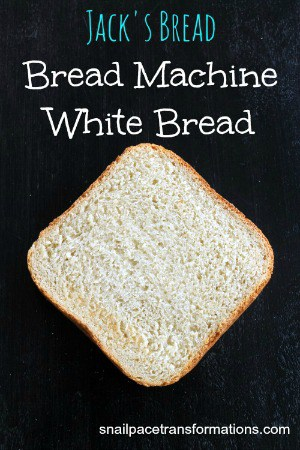 Jack's Bread Bread Machine White Bread (medium)