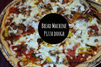 bread machine pizza