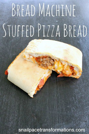 bread machine stuffed pizza bread (medium)