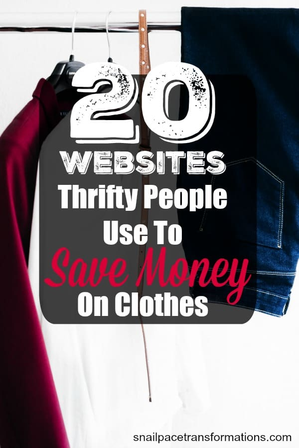 Save money on clothes for you and your entire family with this list of money saving websites and apps. #moneytip #savemoney