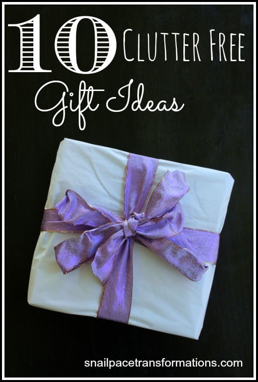 10 Clutter free gift ideas for Christmas or Birthdays