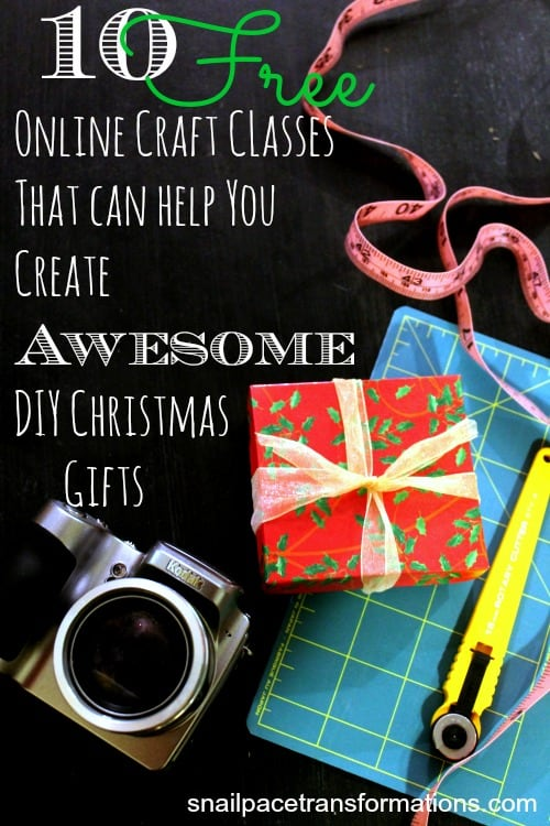 10 Free Craft Classes For Awesome DIY Christmas Gifts