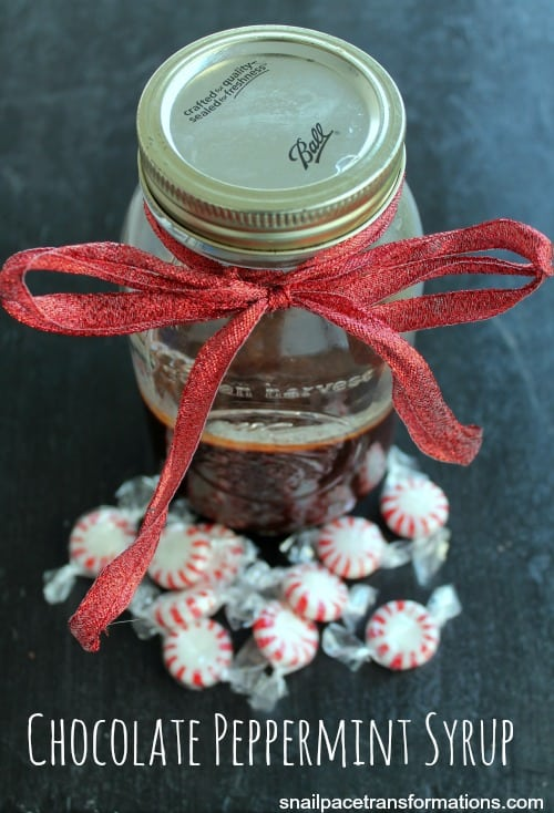 Chocolate Peppermint Syrup So simple to make and would be a great gift
