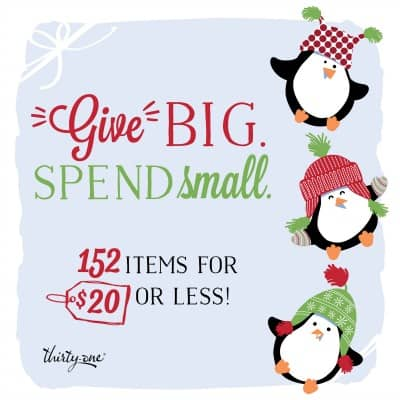 Give big spend small152 items $20 or less