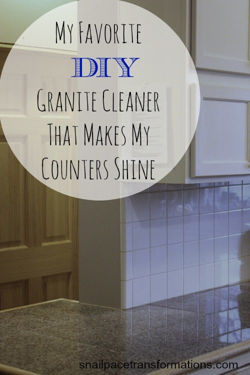 My favorite DIY Granite Countertop cleaner that makes my counters shine