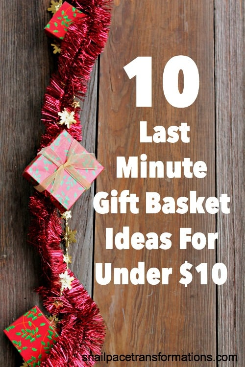 10 last minute Christmas gift basket ideas for under $10. Great ideas for all ages!
